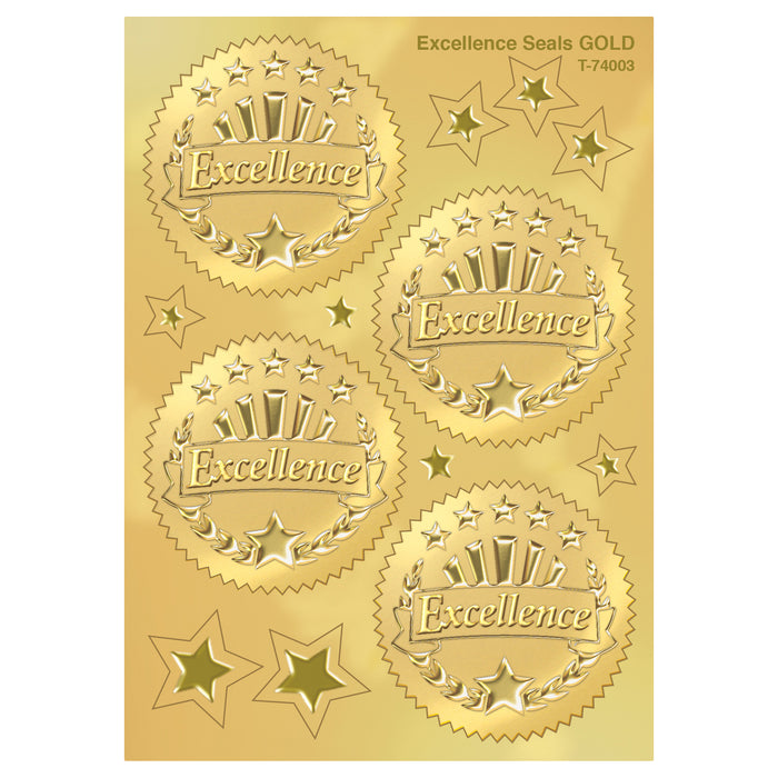 (6 Pk) Award Seal Excellence Gold