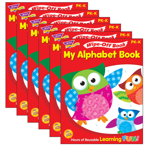 (6 Ea) My Alphabet Book 28pg Wipe-off Books