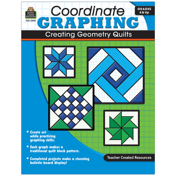 Coordinate Graphing Creating Geometry Quilts Gr 4 & Up