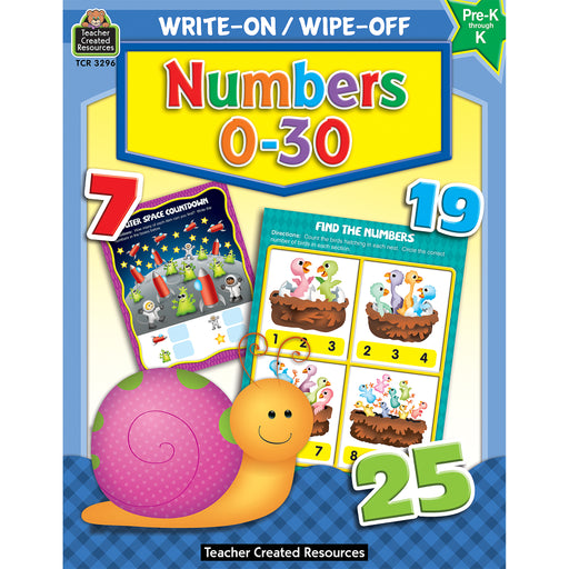Write-on-wipe-off Numbers 0-30