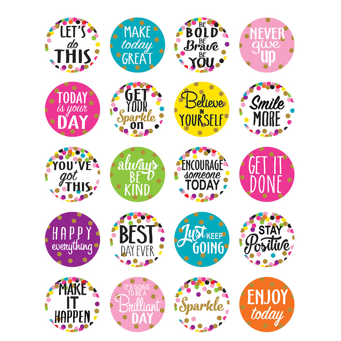 Confetti Words To Inspire Stickers