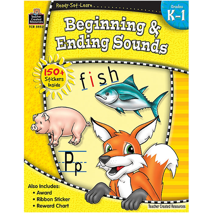 Ready Set Learn Beginning & Ending Sounds Gr K-1