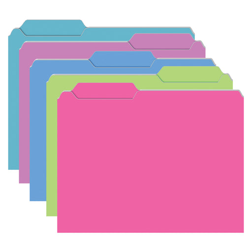 (3 Pk) Brite File Folders 10 Per Pk Galactic Assorted
