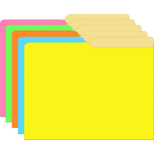 (6 Pk) Brite Assorted Mini File Folders