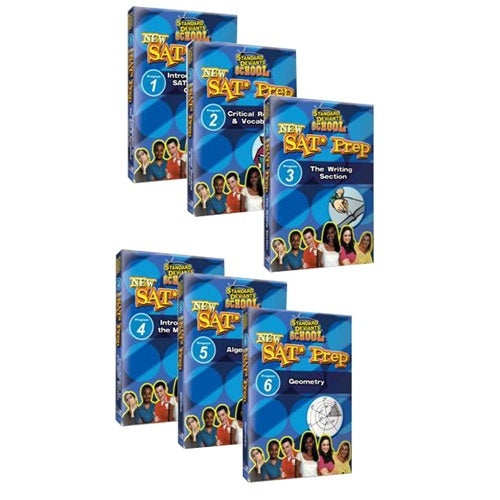 Standard Deviants School SAT Prep (6 Pack) DVDs