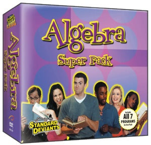 Standard Deviants School Algebra (8 Pack)