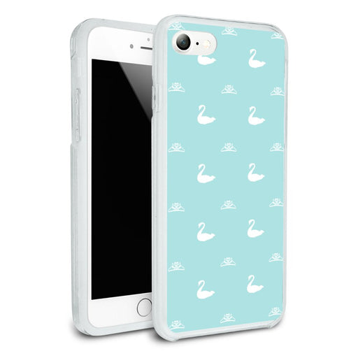 The Swan Princess Blue Pattern Baby Shower Protective Slim Fit Hybrid Rubber Bumper Case for Apple iPhone 7