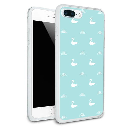 The Swan Princess Blue Pattern Baby Shower Protective Slim Fit Hybrid Rubber Bumper Case Fits Apple iPhone 8 Plus