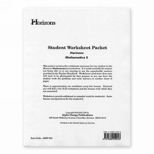 Horizon Mathematics 5 Student worksheet packet