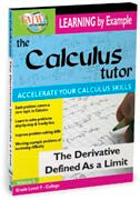 Calculus Tutor:  Derivative Defined As A Limit