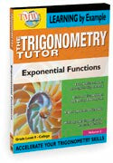 Trigonometry Tutor: Exponential Functions