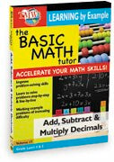 Basic Math Tutor: Add, Subtract, & Multiply Decimals