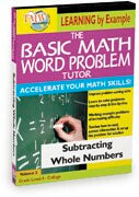 Basic Math Word Problem Tutor: Subtracting Whole Numbers