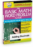 Basic Math Word Problem Tutor: Adding Decimals