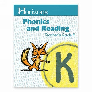 Horizon Kindergarten Phonics and Reading K Teacher Handbook 4