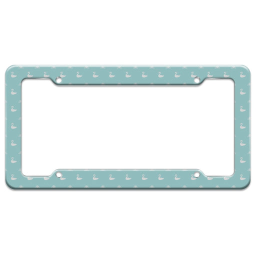 The Swan Princess Blue Pattern Baby Shower License Plate Tag Frame