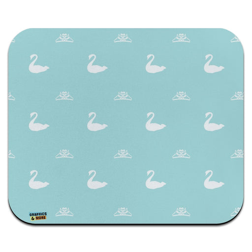 The Swan Princess Blue Pattern Baby Shower Low Profile Thin Mouse Pad Mousepad