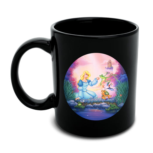 The Swan Princess Odette Jean-Bob Frog Puffin Speed Turtle Black Mug