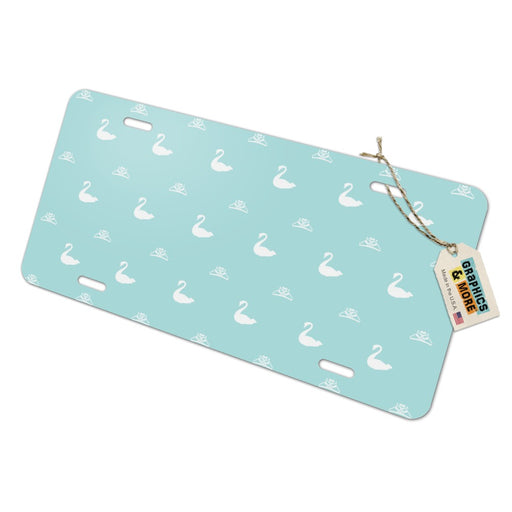 The Swan Princess Blue Pattern Baby Shower Novelty Metal Vanity Tag License Plate