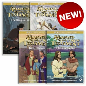 4 Animated New Testament DVD's on Faith and Determination