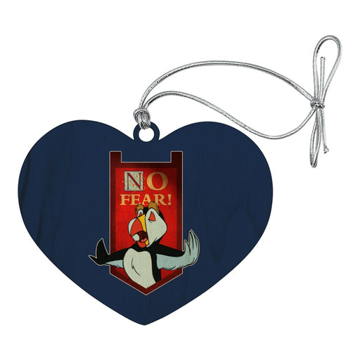 No Fear The Swan Princess Puffin Heart Love Wood Christmas Tree Holiday Ornament