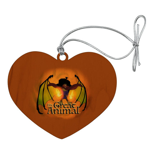 The Swan Princess Great Animal Rothbart Heart Love Wood Christmas Tree Holiday Ornament