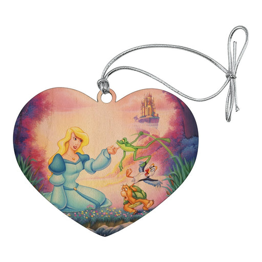 The Swan Princess Odette Jean-Bob Frog Puffin Speed Turtle Heart Love Wood Christmas Tree Holiday Ornament