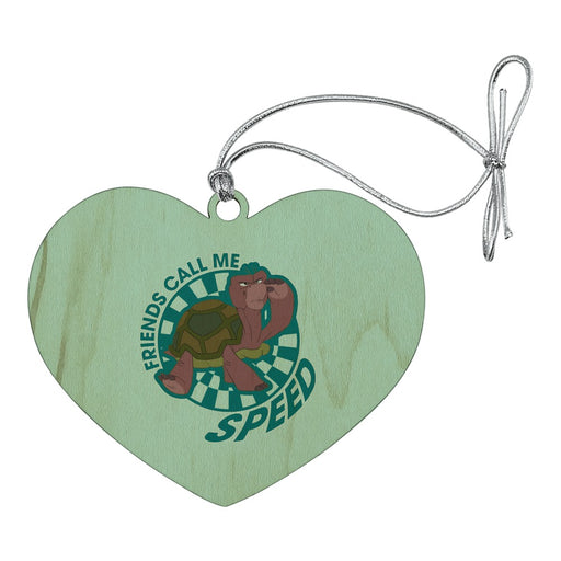 Turtle Friends Call Me Speed The Swan Princess Heart Love Wood Christmas Tree Holiday Ornament