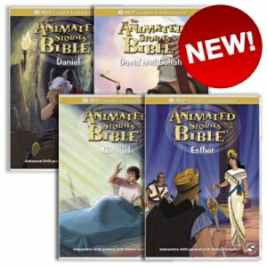 4 Animated Old Testament DVD's on Heroism and Courage