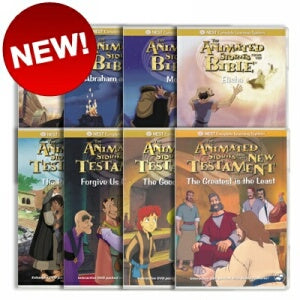 8 Animated Old Testament and New Testament DVD's on Humility and Forgiveness