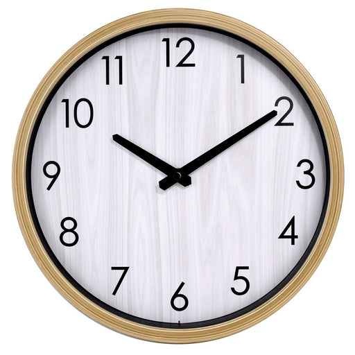 Westclox 12-inch Wall Clock With Woodgrain Look Case