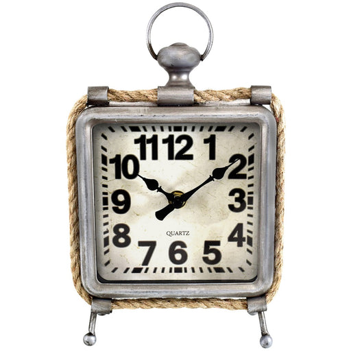 Westclox Metal And Rope Table Clock