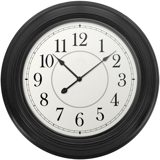 Westclox 22-inch Wall Clock With Black Case