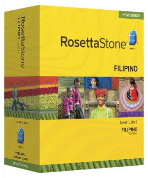 PRE-ORDER: Rosetta Stone Filipino (Tagalog)  Level 1, 2 & 3 Set- Currently out of stock
