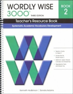 Wordly Wise 3000 Teacher Book Grade 2 3rd Edition