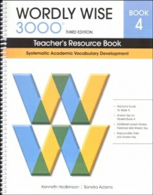 Wordly Wise 3000 Teacher Book Grade 4