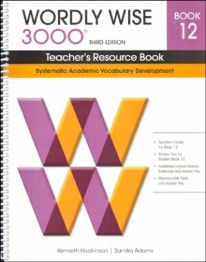 Wordly Wise 3000 Teacher Book Grade 12 3rd Edition