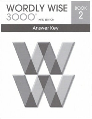 Wordly Wise 3000 Book 2 Answer Key 3rd Edition