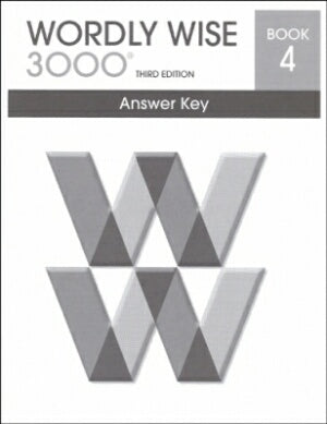 Wordly Wise 3000 Book 4 Answer Key 3rd Edition