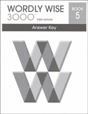 Wordly Wise 3000 Book 5 Answer Key 3rd Edition