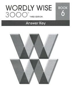 Worldy Wise 3000 Book 6 Answer Key