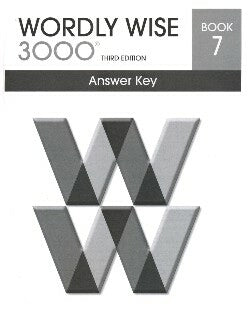 Worldy Wise 3000 Book 7 Answer Key