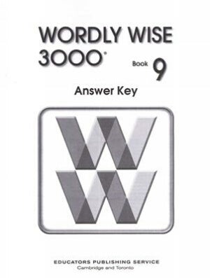 Wordly Wise 3000 Book 9 Answer Key 3rd Edition