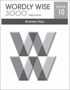 Wordly Wise 3000 Book 10 Answer Key