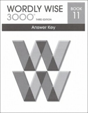 Wordly Wise 3000 Book 11 Answer Key 3rd Edition
