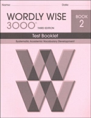 Wordly Wise 3000 Book 2 Test Booklet 3rd Edition