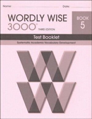 Wordly Wise 3000 Book 5 Test Booklet