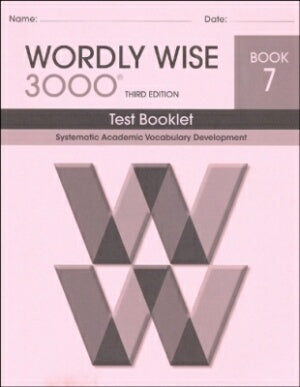 Wordly Wise 3000 Book 7 Test Booklet 3rd Edition