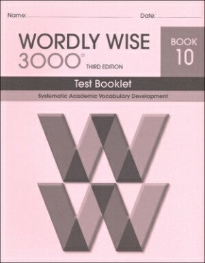 Wordly Wise 3000 Test Book Grade 10