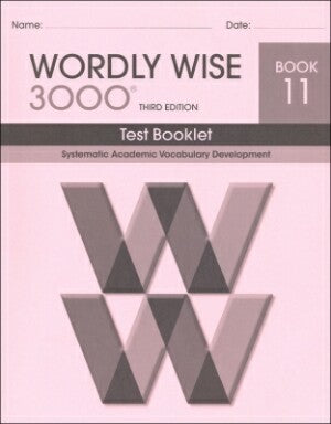 Wordly Wise 3000 Test Book Grade 11